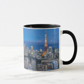 Skyline at twilight mug