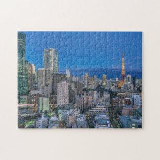 Skyline at twilight puzzles