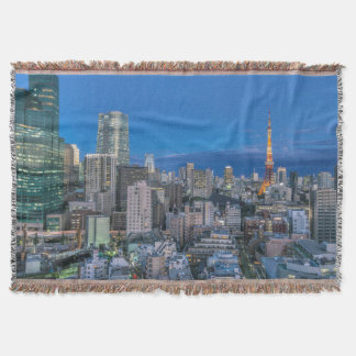 Skyline at twilight throw blanket