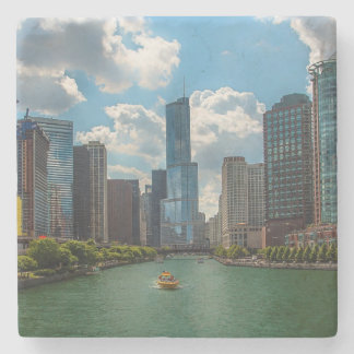 Skyline Chicago Stone Coaster