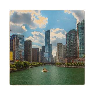 Skyline Chicago Wood Coaster