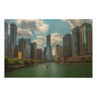 Skyline Chicago Wood Prints