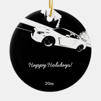 Skyline GT-R Rolling shot Christmas Ornaments