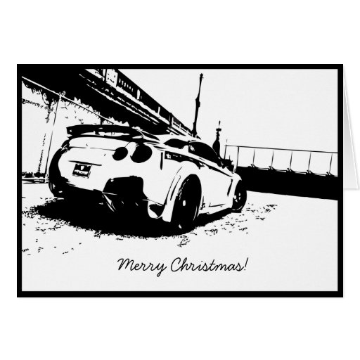 Skyline GTR Christmas Holiday Card
