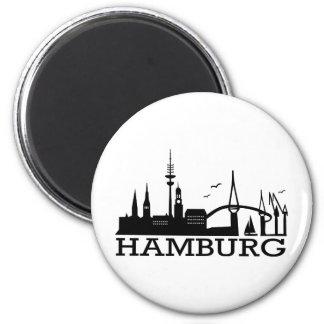 Skyline Hamburg Magnet