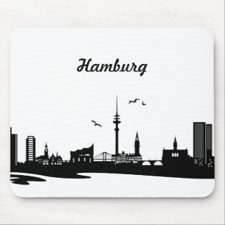 Skyline Hamburg Mouse Mat