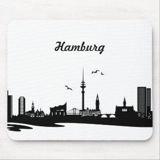 Skyline Hamburg Mouse Pad