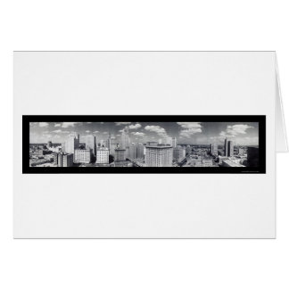 Skyline Houston TX Photo 1949 Greeting Card