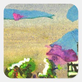 skyline in brighton square sticker