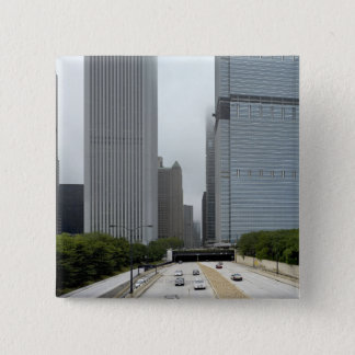 Skyline looking north 15 cm square badge