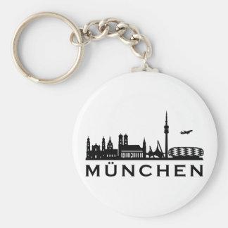 Skyline Munich Basic Round Button Key Ring