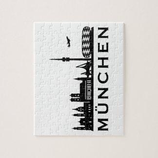 Skyline Munich Jigsaw Puzzle