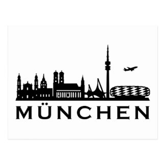 Skyline Munich Postcard