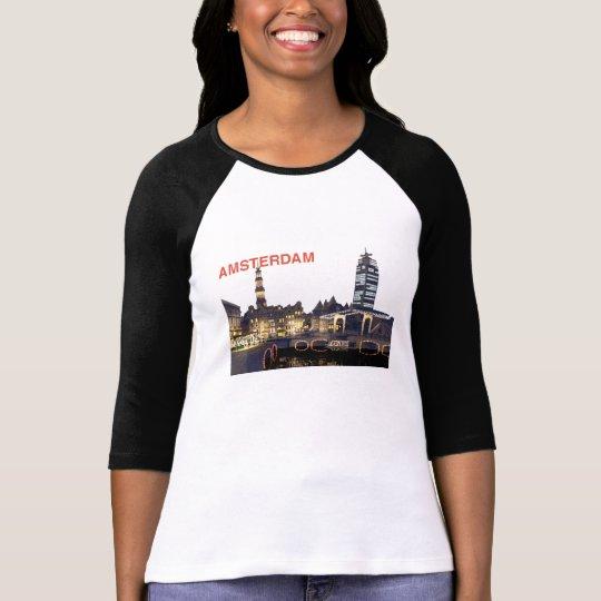 skyline_nacht_7 AMSTERDAM , WELCOM... - Customised T-Shirt