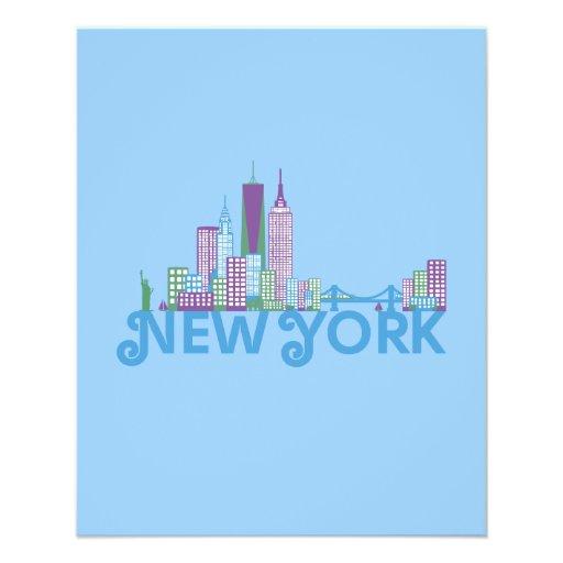 Skyline New York Full Color Flyer