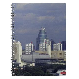 Skyline of Beijing, China Notebook