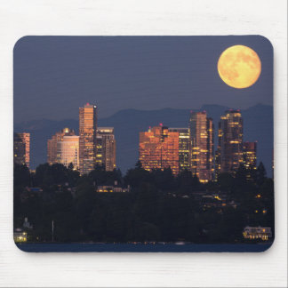 Skyline Of Bellevue From Lake Washington At Dusk Mouse Mat