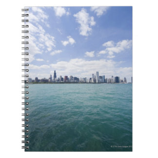 Skyline of Chicago from Lake Michigan, Illinois, Spiral Notebook