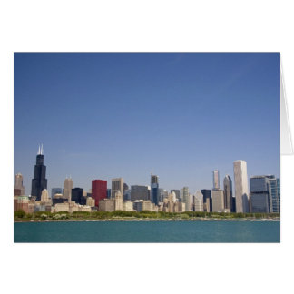 Skyline of Chicago, Illinois, USA. Card