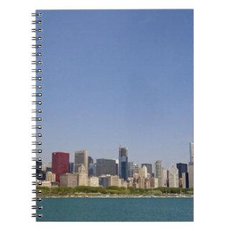 Skyline of Chicago, Illinois, USA. Note Book