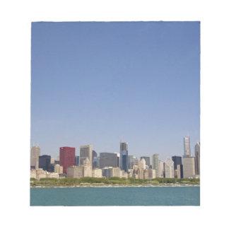 Skyline of Chicago, Illinois, USA. Notepad