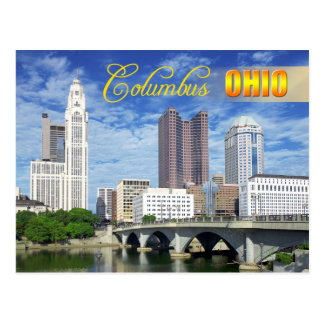 Skyline of Columbus, Ohio Postcard