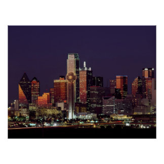 Skyline of Dallas, Texas Poster