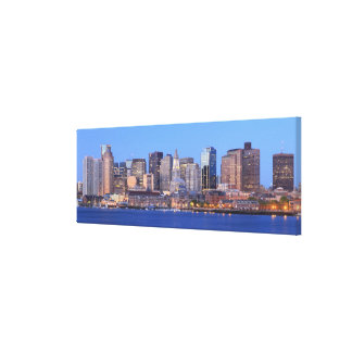 Skyline of downtown Boston from inner Boston Canvas Print