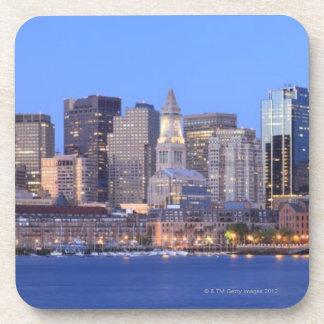 Skyline of downtown Boston from inner Boston Drink Coaster