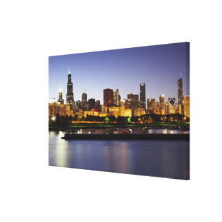 Skyline of downtown Chicago at dusk Canvas Print