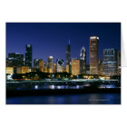 Skyline of Downtown Chicago at night Card