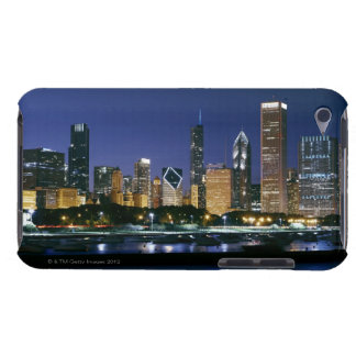 Skyline of Downtown Chicago at night iPod Touch Cases