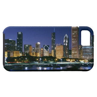 Skyline of Downtown Chicago at night Tough iPhone 5 Case