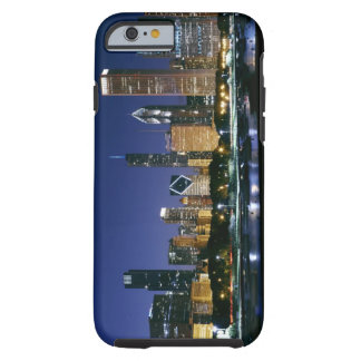Skyline of Downtown Chicago at night Tough iPhone 6 Case