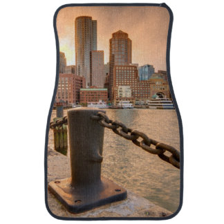 Skyline of Financial District of Boston Car Mat