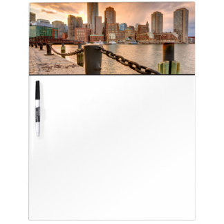 Skyline of Financial District of Boston Dry Erase Board