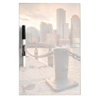 Skyline of Financial District of Boston Dry-Erase Whiteboard