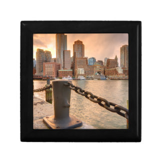 Skyline of Financial District of Boston Gift Box