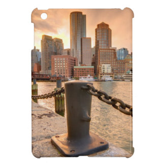 Skyline of Financial District of Boston iPad Mini Cases
