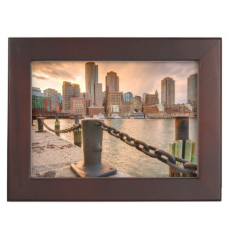 Skyline of Financial District of Boston Keepsake Box