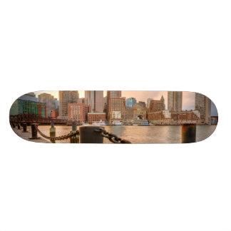 Skyline of Financial District of Boston Skateboard Deck
