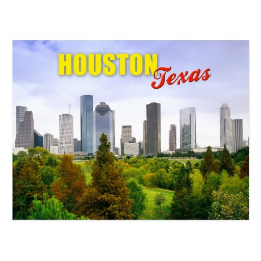 Skyline of Houston, Texas Postcards