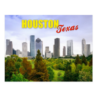 Skyline of Houston Texas Postcards