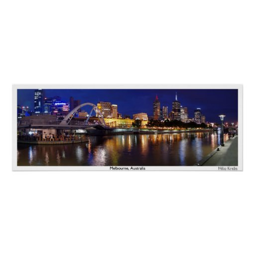 Skyline of Melbourne Panorama Poster