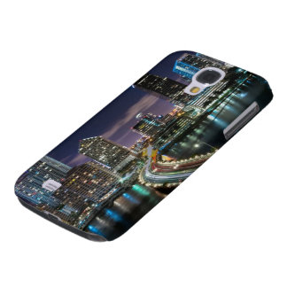 Skyline of Miami city with bridge at night Galaxy S4 Case