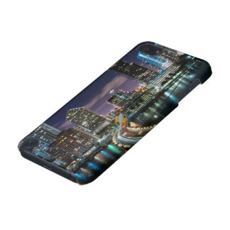 Skyline of Miami city with bridge at night iPod Touch (5th Generation) Cover