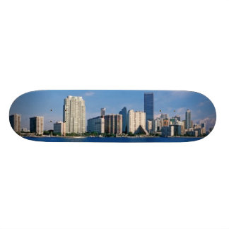 Skyline of Miami, Florida 18.1 Cm Old School Skateboard Deck