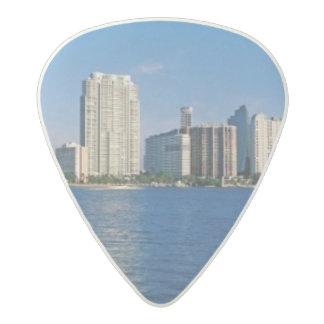 Skyline of Miami, Florida Acetal Guitar Pick