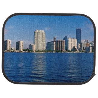 Skyline of Miami, Florida Car Mat