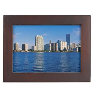 Skyline of Miami, Florida Keepsake Box